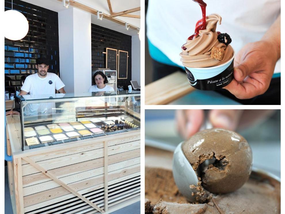 En el obrador de Elarte se elaboran más de cien variedades de helado.