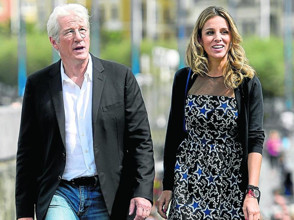 Richard Gere y Alejandra Silva, en una visita al Festival de Cine de San Sebastián