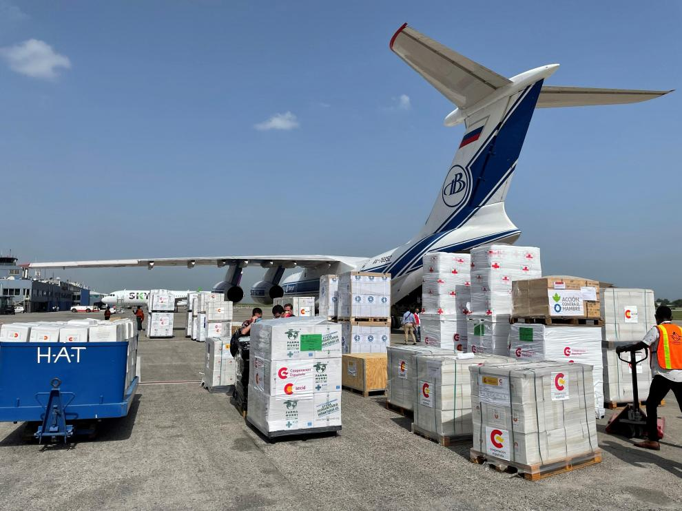 Ayuda humanitaria para Haití enviada por el Gobierno español y varias ONG.