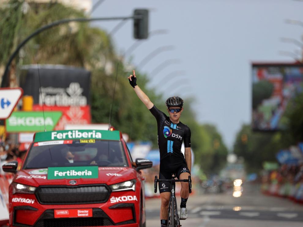 El australiano Michael Storer (DSM) ganó en solitario la décima etapa de la Vuelta