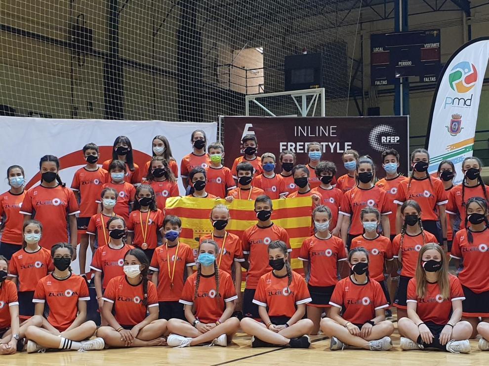 Club de patinaje aragonés Zlalom en el campeonato de España.