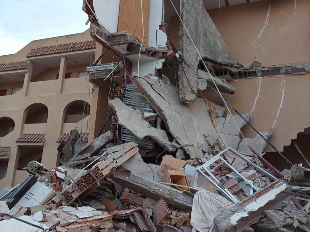 Edificio derrumbado en Peñíscola