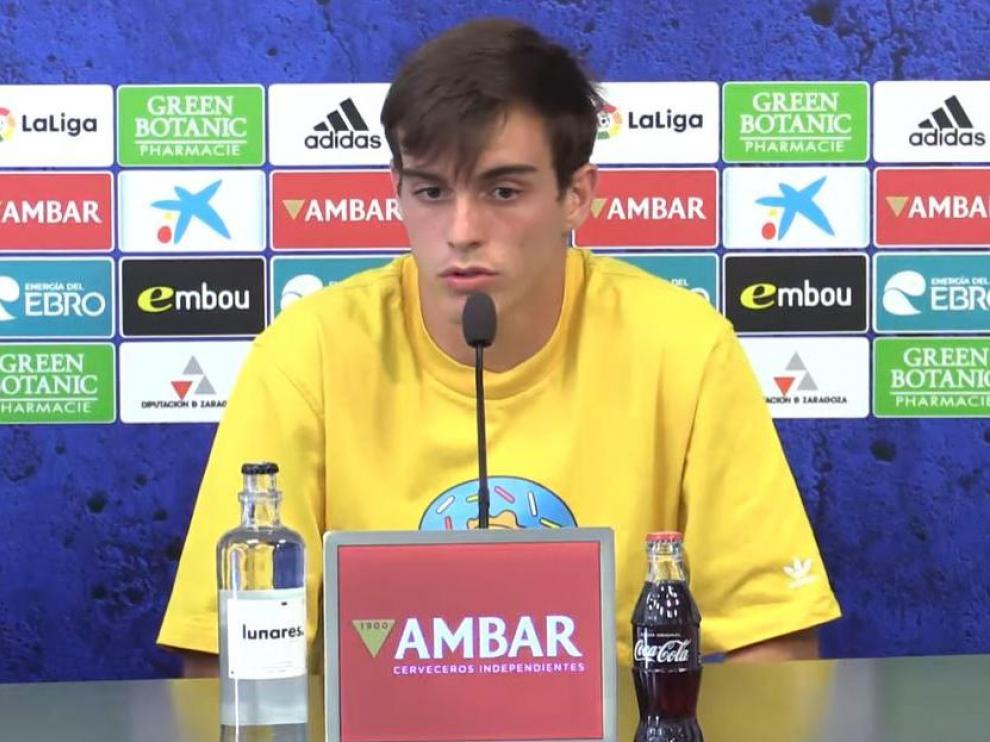 Francho Serrano, este miércoles en la sala de prensa de la Ciudad Deportiva.