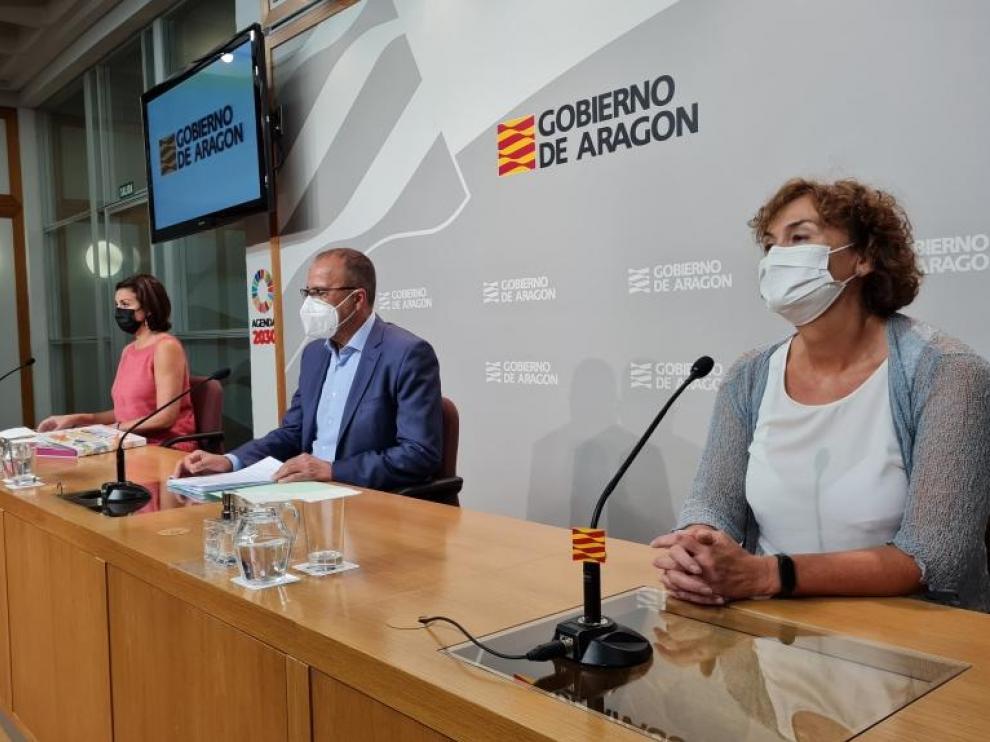 Rueda de prensa de inicio del curso escolar 2021/2022 en Aragón