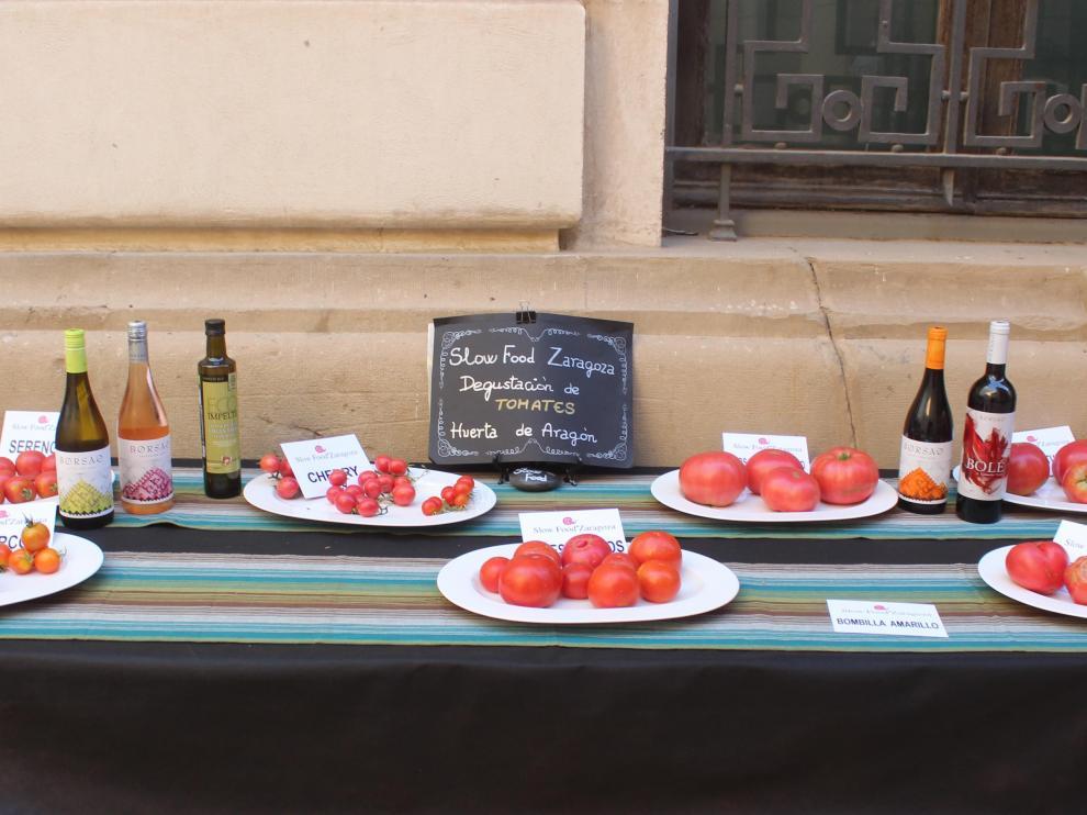 Slow Food Zaragoza reivindica los  mejores tomates ecológicos de Aragón