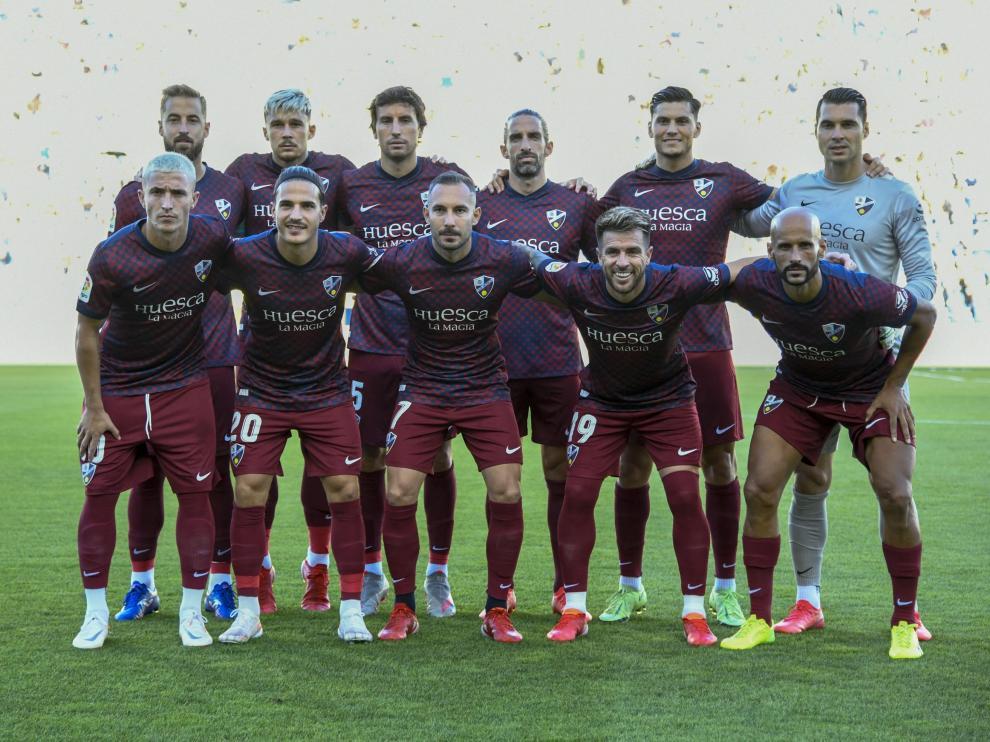 Alineación titular de la SD Huesca ante Las Palmas.