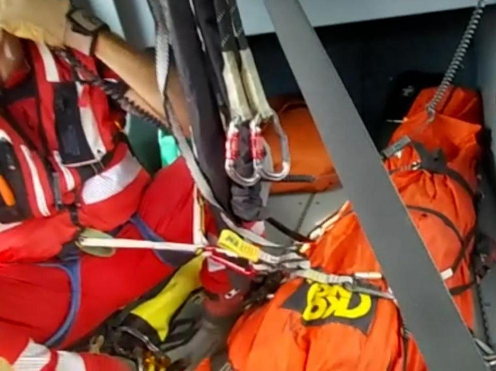 Rescate del cadáver del montañero francés
