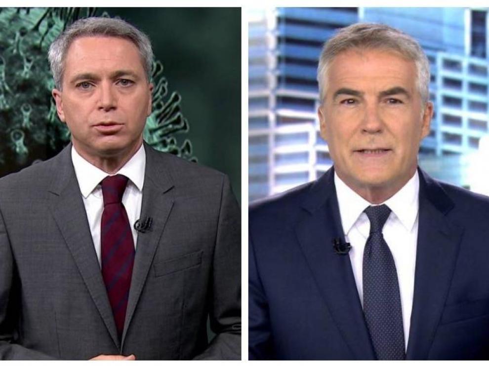 'Antena 3 Noticias' (18,8%) consolida su liderazgo tanto en la edición diaria del mediodía (20,3% y 2,2 millones) como por la noche (20,2% y 1,9 millones) frente a 'Informativos Telecinco', que quedan en segundo