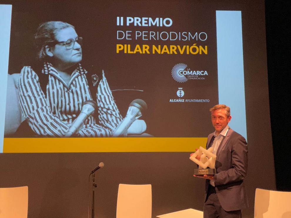 El periodista Javier Ruiz con el premio