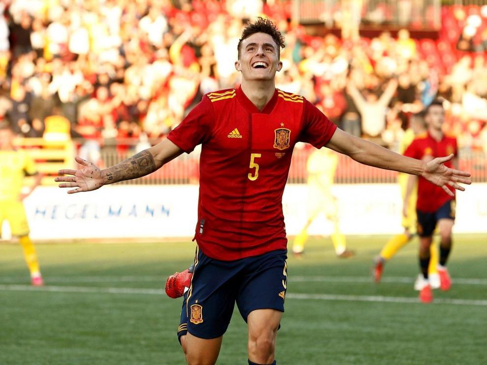 Partido España-Lituania, sub-21: gol del aragonés Alejandro Francés