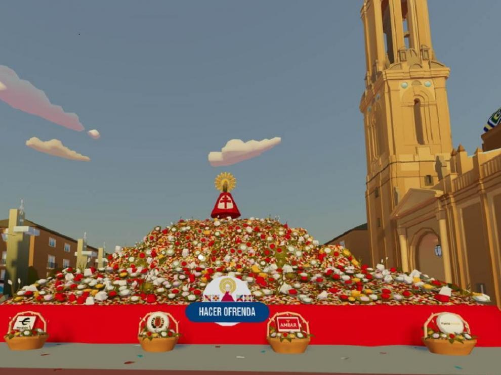 Ofrenda de Flores virtual a la Virgen del Pilar.