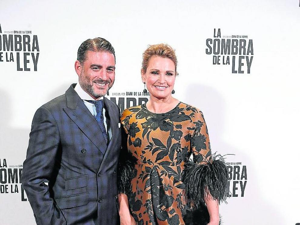 La soprano Ainhoa Arteta y Matías Urrea, en octubre de 2018.