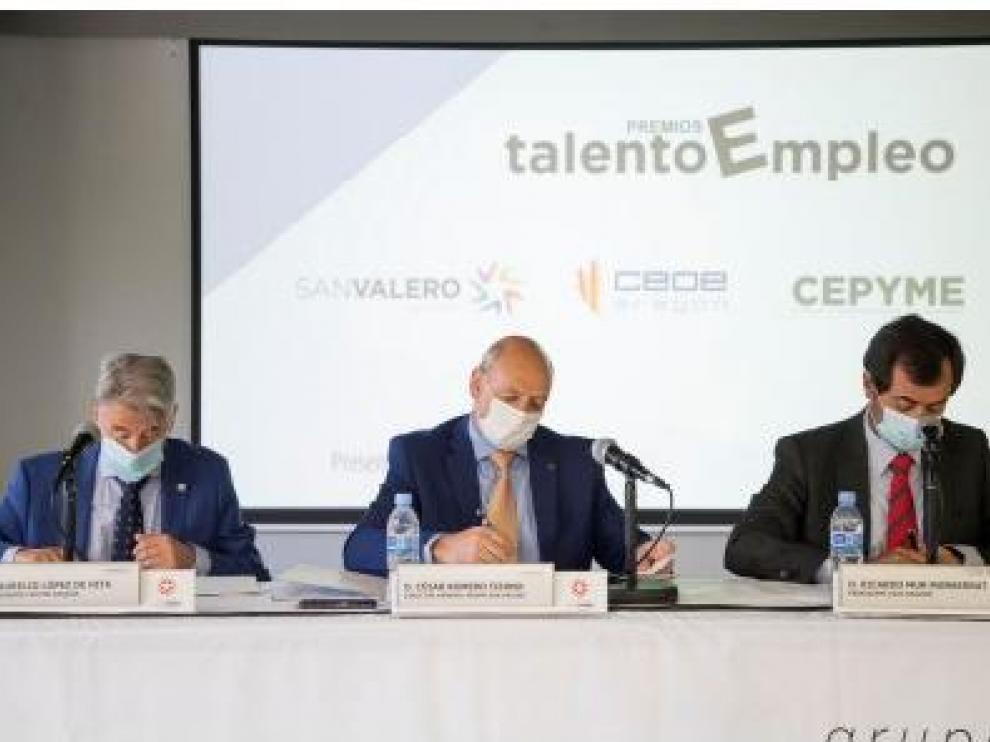 Los galardones están promovidos por el Grupo San Valero, en colaboración con CEOE Aragón y Cepyme