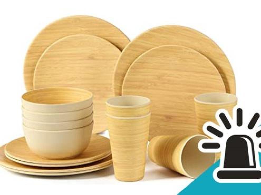 Cuidado con el menaje de plástico con bambú