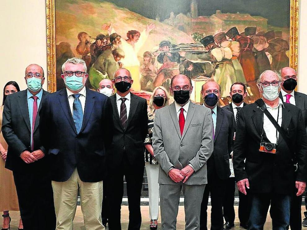 Aragón presentó ayer en el Museo del Prado 'Goya. 3 de mayo', cortometraje de Carlos Saura impulsado por la DGA y Aragón Televisión