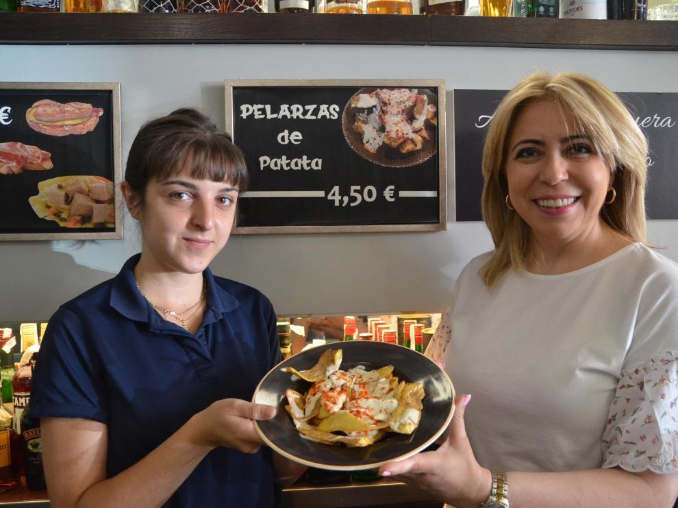 La ración de palarzas de patata del restaurante El Candelas cuesta 4,50 euros
