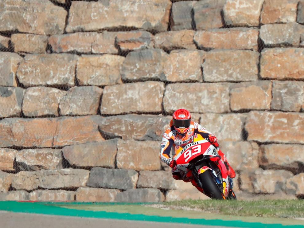 Entrenamientos libres del Gran Premio de Aragón: Marc Márquez