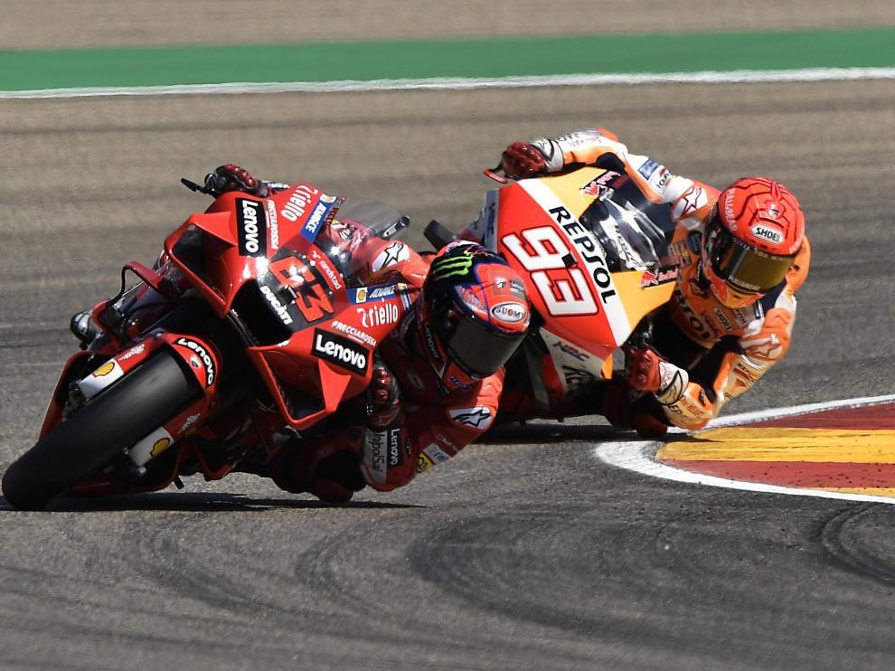 Carrera de Moto GP del Gran Premio Tissot de Aragón