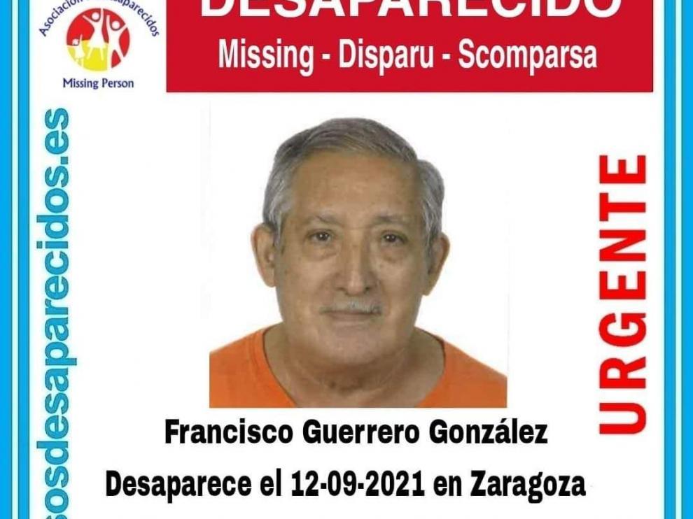 Francisco Guerrero González desapareció este domingo, 12 de septiembre.