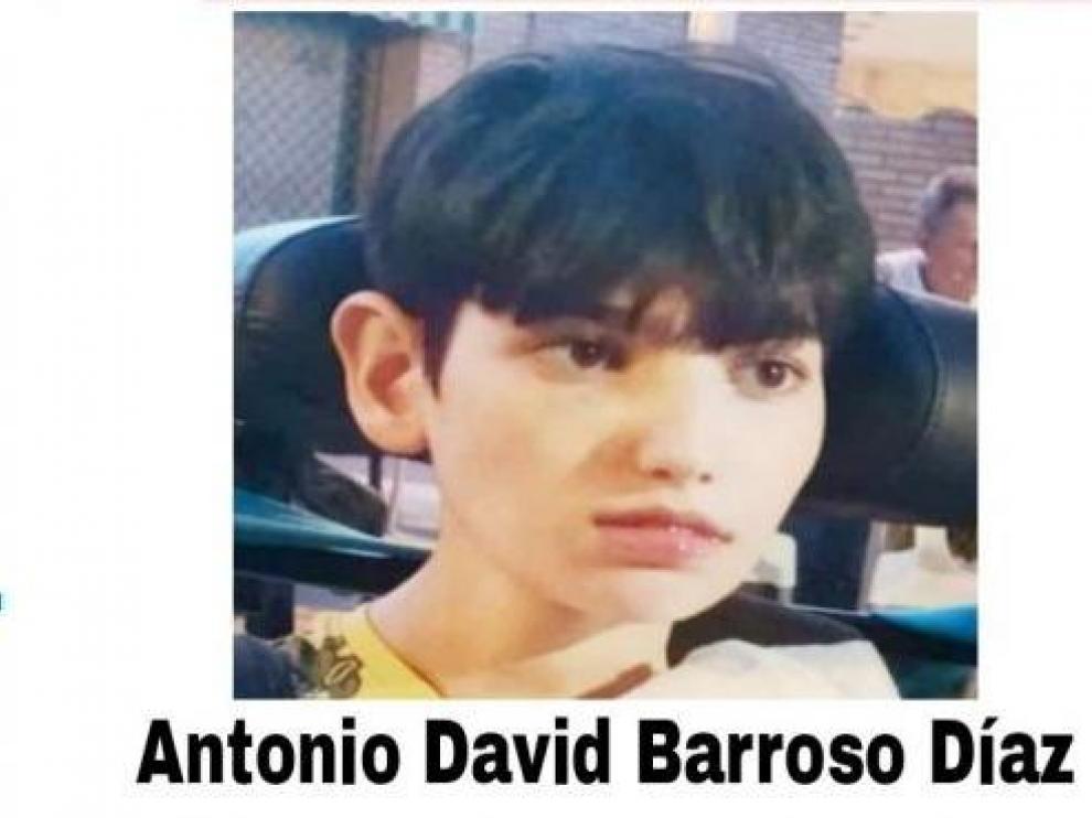 Fotografía del niño desaparecido