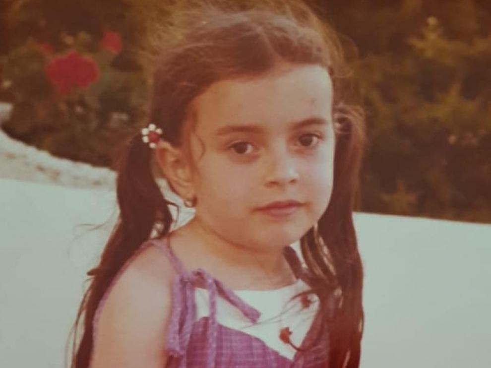 Thais Villas, con 7 años en Fraga (Huesca)