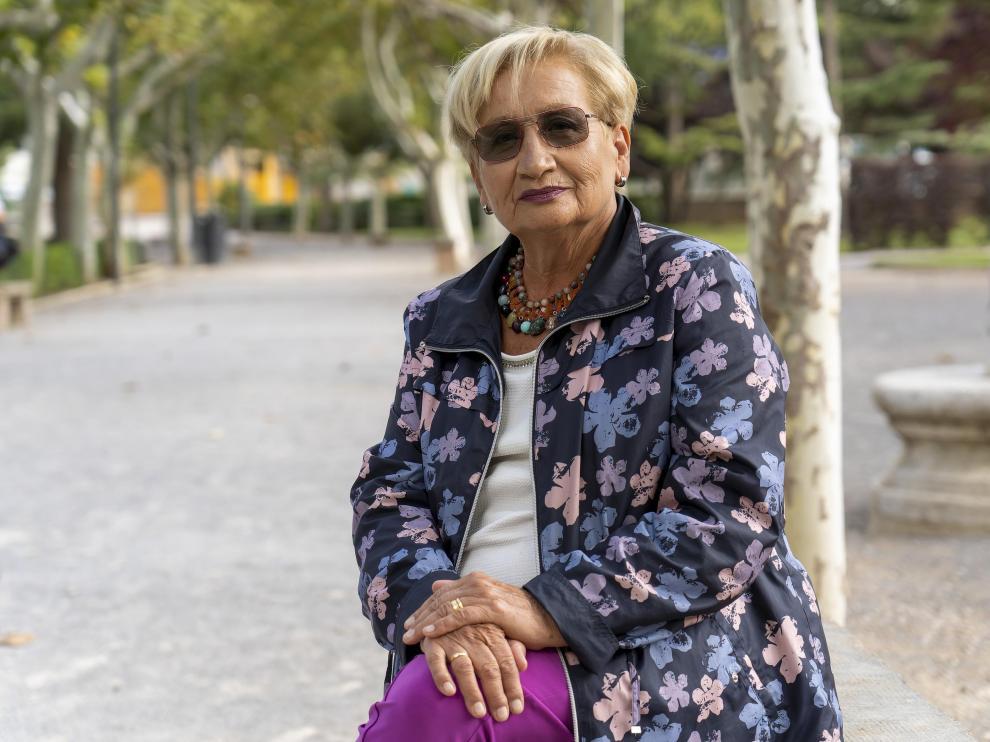 Sagrario Casino, delegada de la asociación de personas con síndrome de piernas inquietas de Aragón.