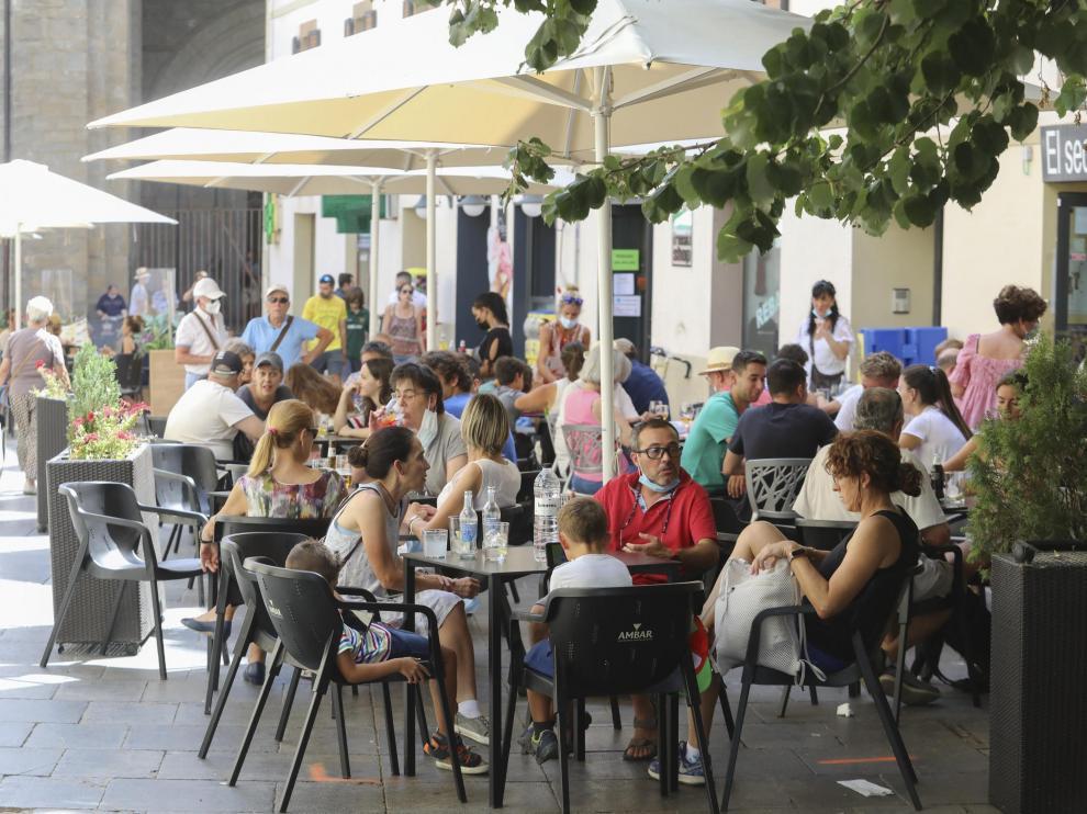 Jaca registró una altísima ocupación turística en los meses de julio y agosto.