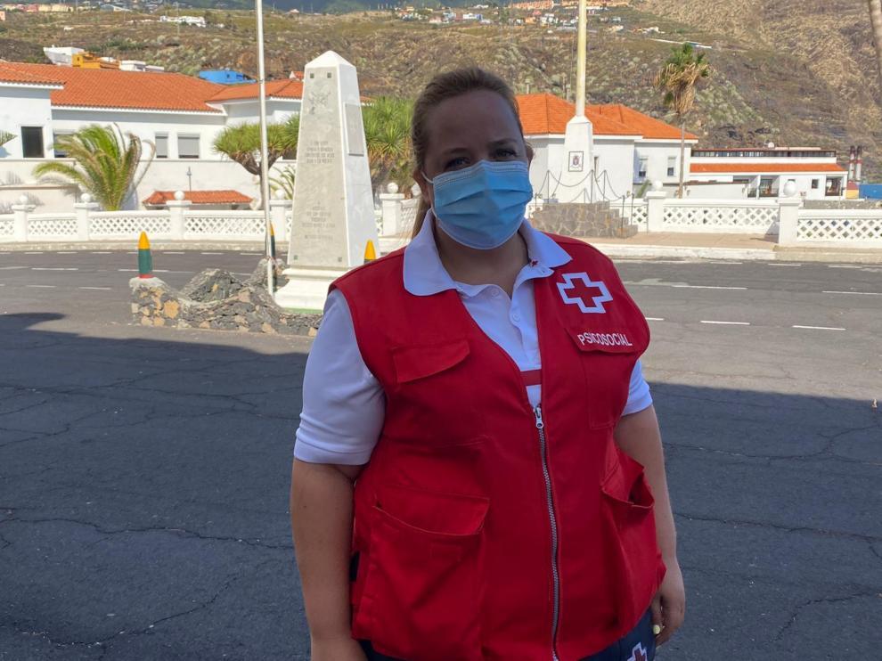 Laura Marrero, psicóloga de Cruz Roja