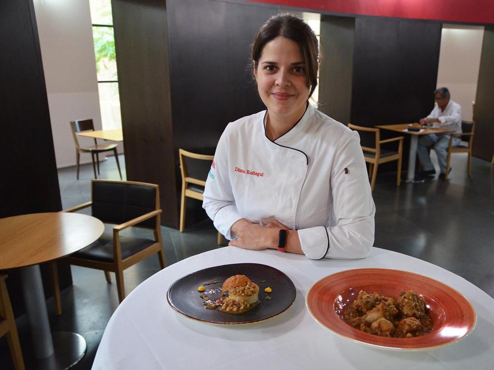 Diana Roitegui, del restaurante Paraninfo, con las dos recetas