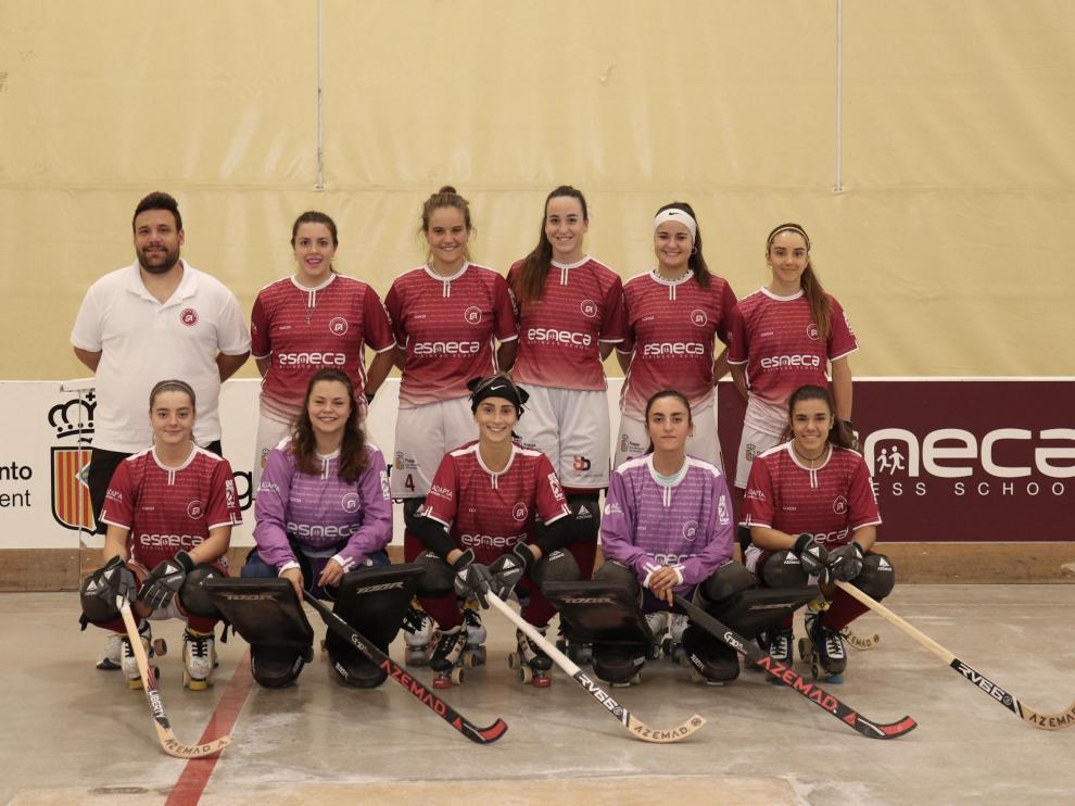 Equipo de hockey femenino en Fraga