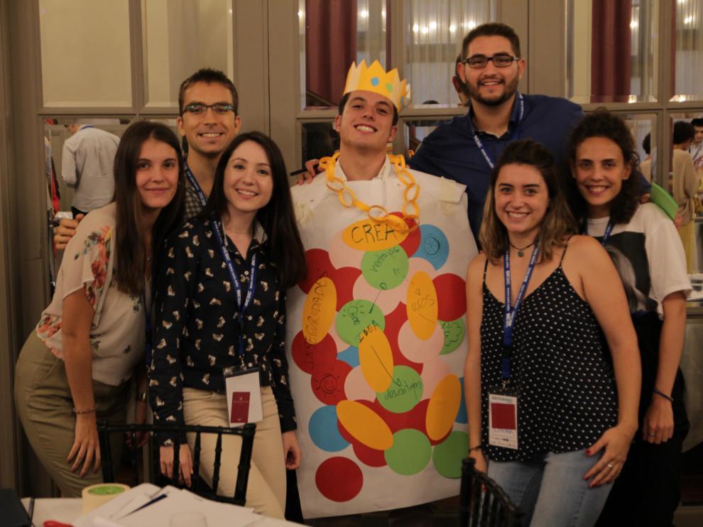 Estudiantes en una de las dinámicas de la primera edición.
