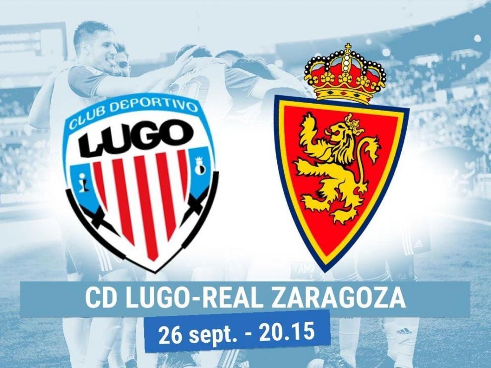 Horario y dónde ver el Lugo-Real Zaragoza.