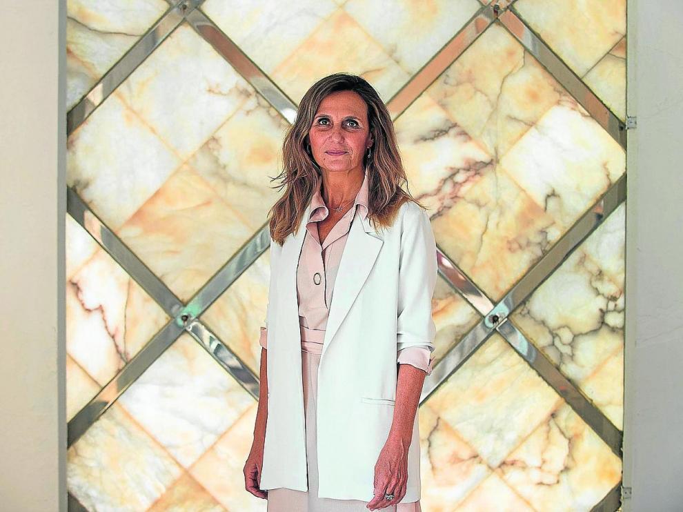 Marta Banco, presidente de CEOE Internacional en la sede zaragozana de la institución.