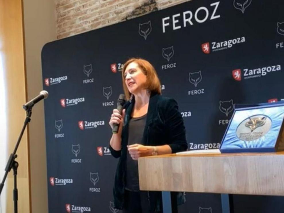 Sara Fernández ha anunciado en San Sebastián que los Premios Feroz 2022 se entregarán en Zaragoza.