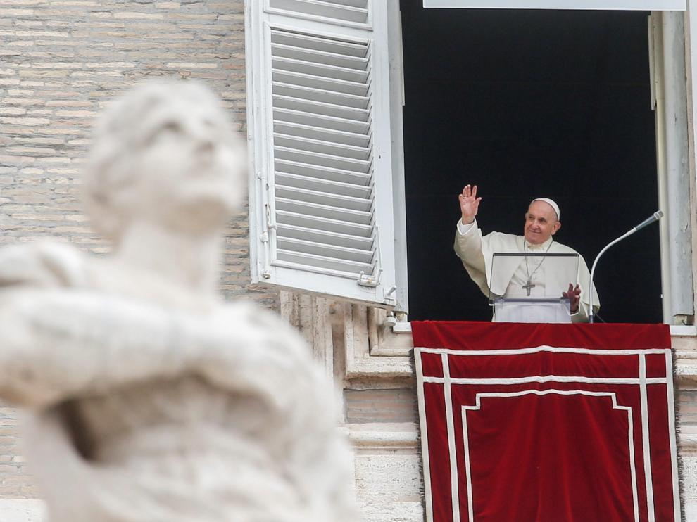 El Papa, este domingo durante el Angelus. VATICAN POPE FRANCIS