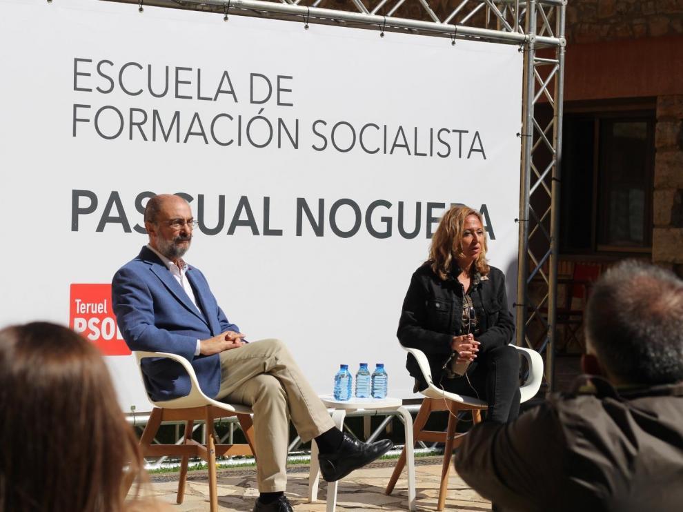 Lambán y Mayte Pérez, este domingo en Orihuela del Tremedal