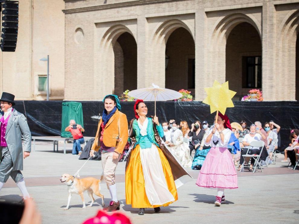 Recreación de cuadros de Goya en la plaza del Pilar