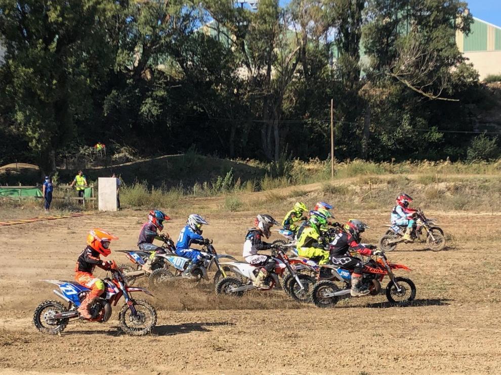 Zuera ha acogido una nueva prueba del Campeonato de Aragón de Motocross