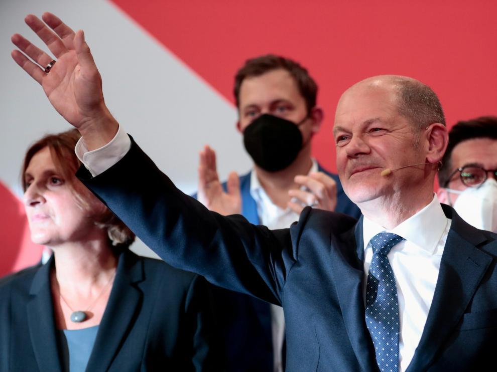 El candidato socialdemócrata Olaf Scholz, vencedor de las elecciones en Alemania.