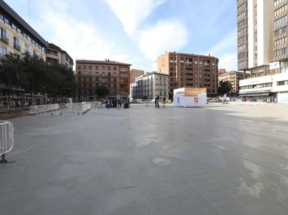 Aspecto actual de la plaza Salamero.