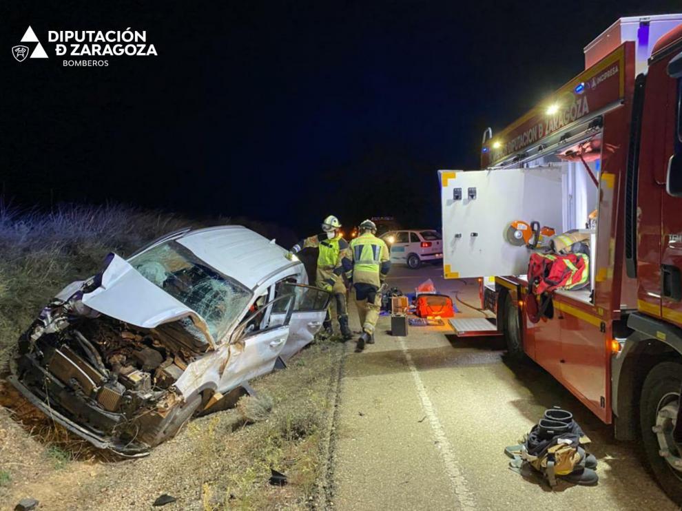 Accidente en la A-221 entre Chiprana y Escatrón