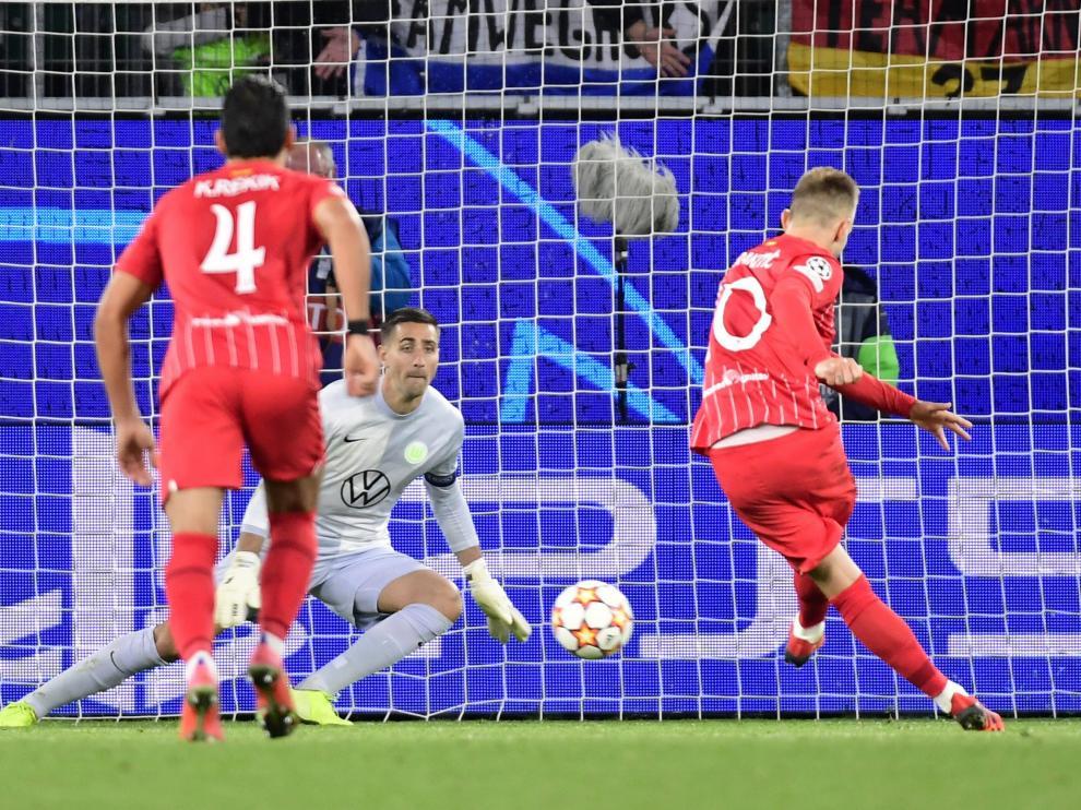 Wolfsburgo-Sevilla, partido de Champions.