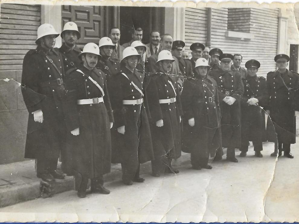 Plantilla de la Policía Local de Barbastro de 1955.