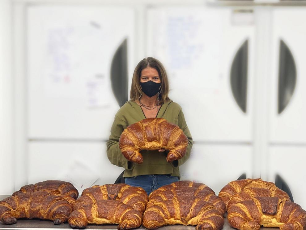 Anne-Laure Romeuf, propietaria de Le Petit Croissant.