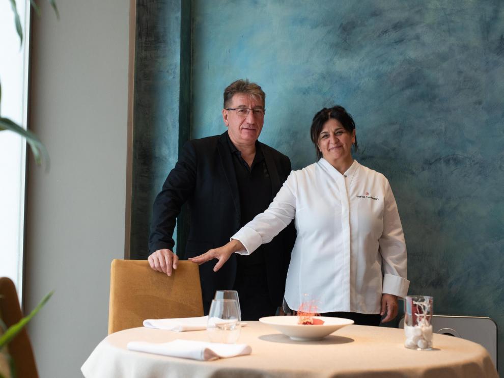 David Pérez y Marisa Barberán, responsables de sala y cocina respectivamente, de La Prensa.