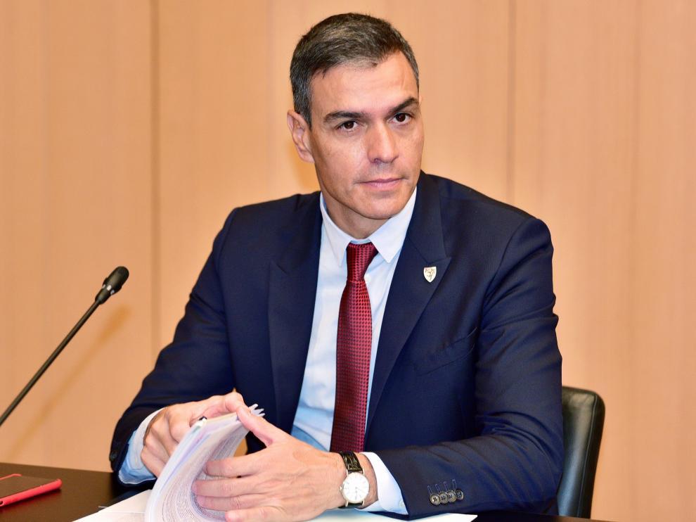 Pedro Sánchez, este miércoles, en Brdo Pri Kranju.