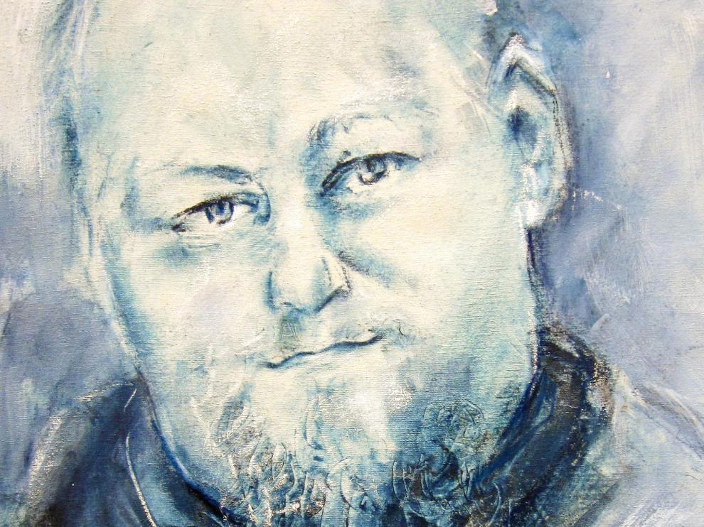 Un retrato pintado de Félix Romeo.