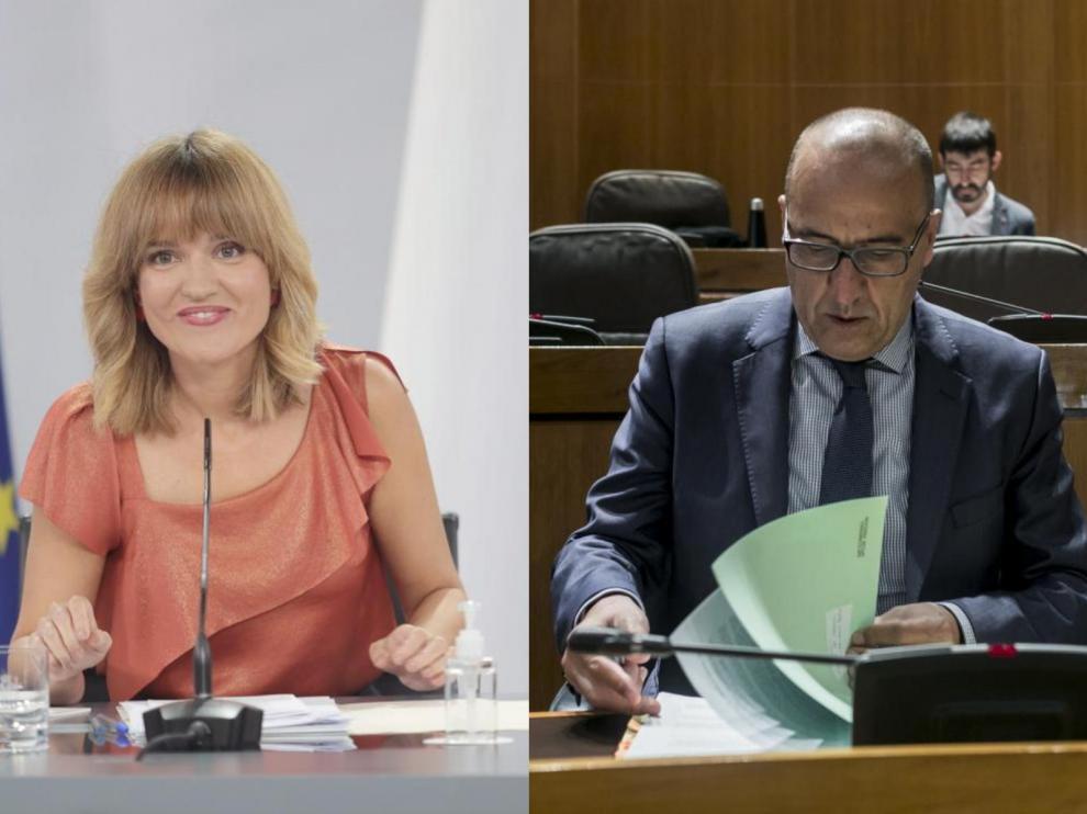 Imágenes de archivo de Pilar Alegría y Felipe Faci.