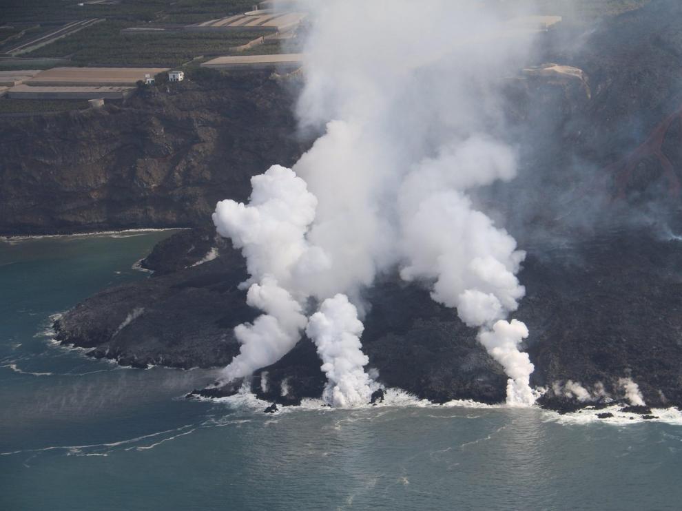 El delta lávico formado tras la erupción del volcán Cumbre Vieja en La Palma