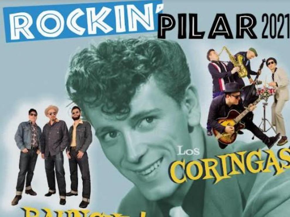 El cartel de los conciertos de este domingo.